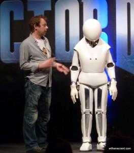 Robert Allsopp with his design creation, the Handbot