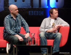Neil Gorton (FX Director for Millenium FX) and Robert Allsopp (designer of the Handbot)