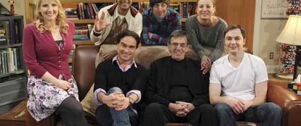big bang theory cast with Leonard Nimoy