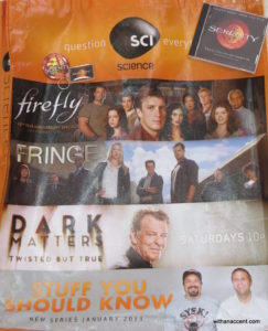 SDCC 2012 Giveaway #7 - Serenity/Firefly & Science Channel Prize Pack!