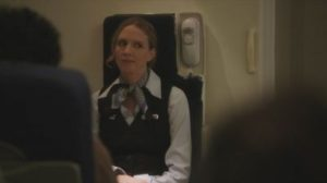 The snarky flight attendant