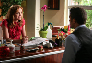 "Will tells Emma about an out of town opportunity in Glee's ""Makeover"" episode"