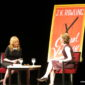J.K. Rowling takes to the stage at the Lincoln Center in New York City for a conversation about her latest book, The Casual Vacancy.