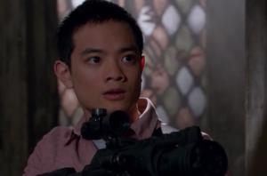 Kevin Tran with water gun