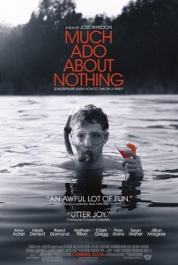 Much Ado About Nothing poster of Fran Kranz in water holding drink