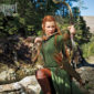 Evangeline Lilly will be playing Tauriel, a character that never appears in any of Tolkien's writing but was created specifically for the films.