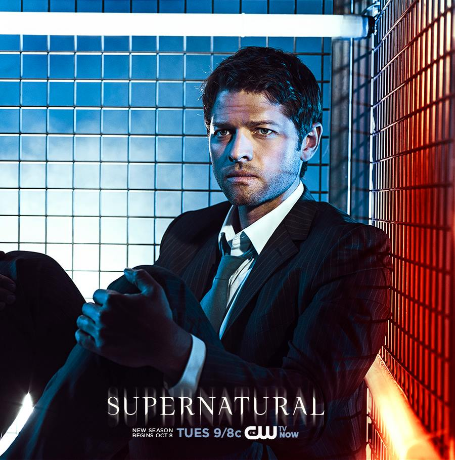 Supernatural promo poster–Castiel in a cage