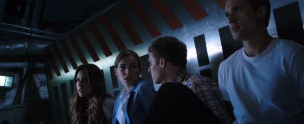 agents of shield, s1 ep02--Skye, Simmons, Fitz, and Ward tied up