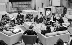 The cast of Star Wars Episode VII gets together for a table read.