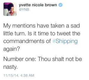 The Walking Dead - Yvette Nicole Brown Tweet