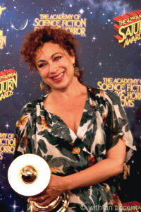 Alex Kingston was on hand to pick up the award for Best Presentation on TV