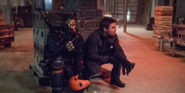 Diggle, the Green Arrow, faces his own demons, while Slade Wilson and Oliver Queen share their own side adventure involving Slade's son.