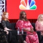 The cast of NBC's 'Good Girls' discussed the tone of their new show and what it feels like to no longer be acting on the sidelines.
