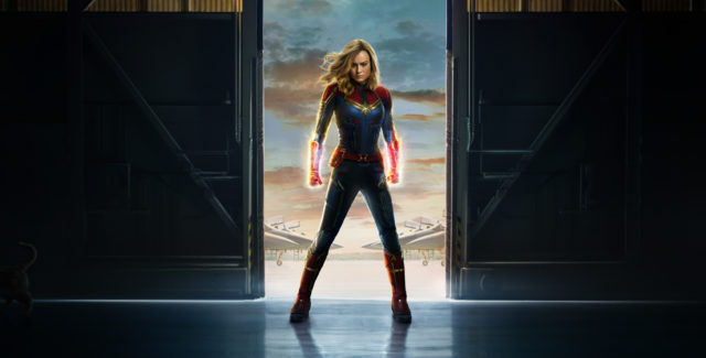 Marvel Studios introduces its newest superhero, Captain Marvel. She's powerful, out of this world (literally), and she puts the 'her' in hero.