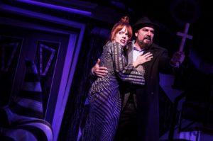Leslie Kritzer and Adam Dannheisser as Delia and Charles Deetz (Photo by Matthew Murphy)