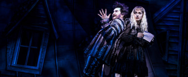 Alex Brightman and Sophia Anne Caruso as Beetlejuice and Lydia (Photo by Matthew Murphy)