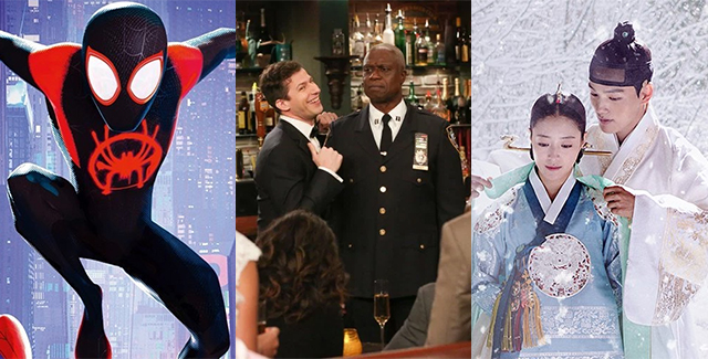 This week's podcast gushes over Into the Spiderverse's Golden Globe. But there's also squeeing at The Good Place, Brooklyn Nine-Nine and The Crowned Clown!