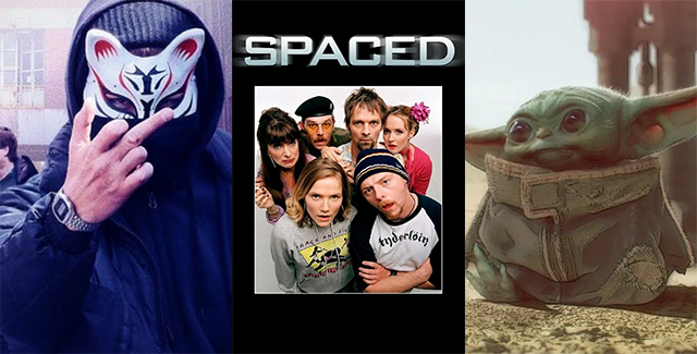 "Pop A La Carte presents ""Nostalgia With An Accent"" for its 100th ep, starting with Channel 4's Spaced. Plus: Mandalorian, box office drought, and Kdramas."
