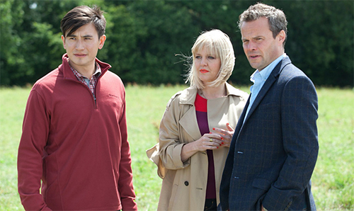 ashley jensen and matt mccooey in agatha raisin