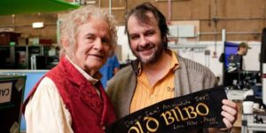 Peter Jackson and Ian Holm